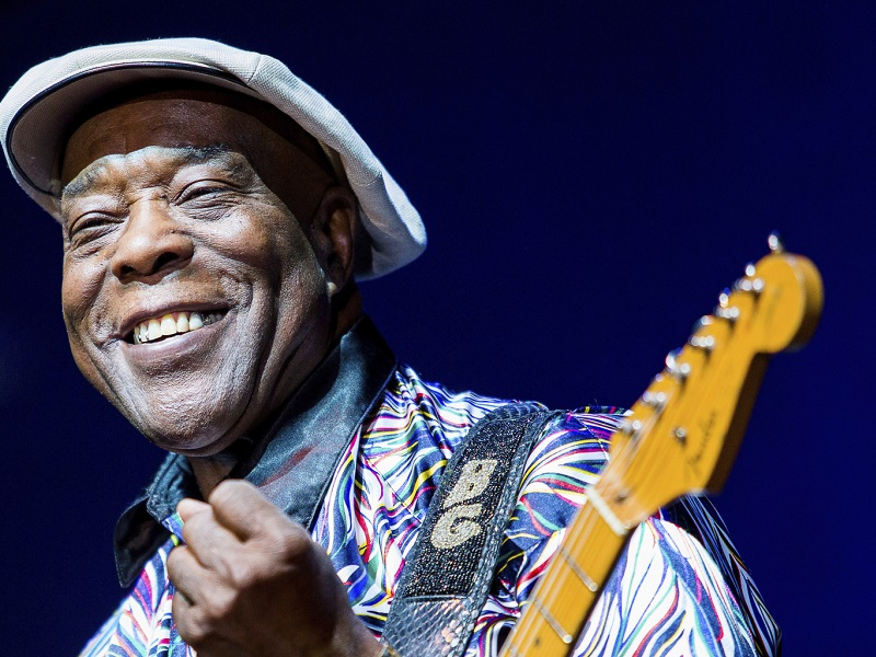 SAO PAULO, BRAZIL - JUNE 12:  Singer Buddy Guy performs during a show as part of the Best Blues Festival at WTC Golden Hall on June 12, 2013 in Sao Paulo, Brazil. (Photo by Mauricio Santana/LatinContent/Getty Images)